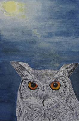 Painting - Owl By Moonlight by Elvira Ingram