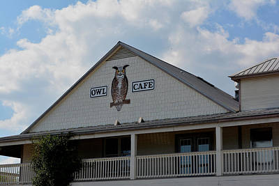 Photograph - Owl Cafe by Judy Wanamaker