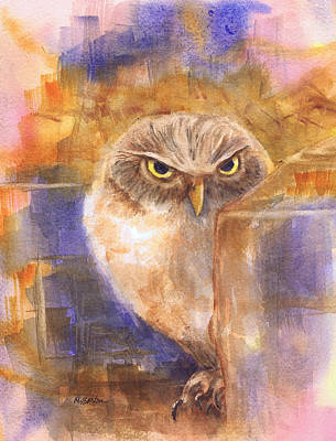 Painting - Owl Cave by Marilyn Barton