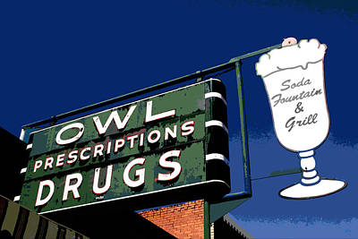 Photograph - Owl Drugs  by Jeff Mize