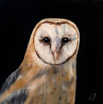 Oil Painting - Owl by Elizabeth Barrett