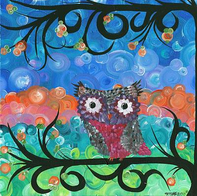 Painting - Owl Expressions - 02 by MiMi  Stirn
