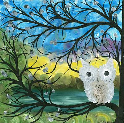 Painting - Owl Expressions 04 by MiMi  Stirn