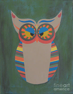 Owl Eyed Art Print by Jules Wagner