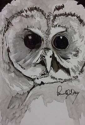 Painting - Owl Eyes Two by Paula Day