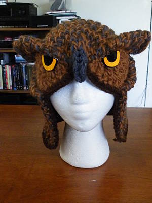 Tapestry - Textile - Owl Hat by Scarlett Royal