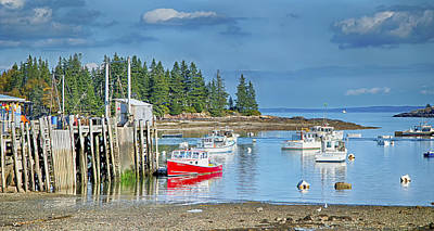Penobscot Bay Digital Art - Owl Head Harbor by Gregory W Leary