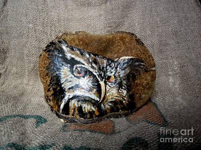Owl Print by Ildiko Decsei
