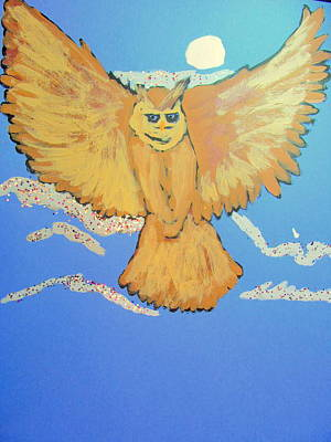 Painting - Owl In Flight by Amy Bradley