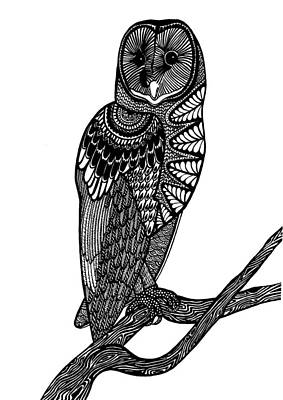 Owl Intricacy Art Print by Monique Butcher