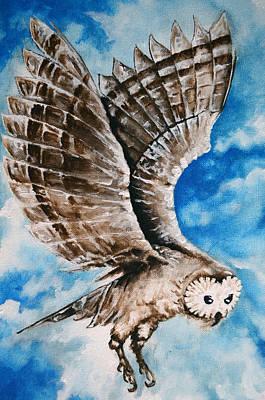 Painting - Owl by Jakub DK