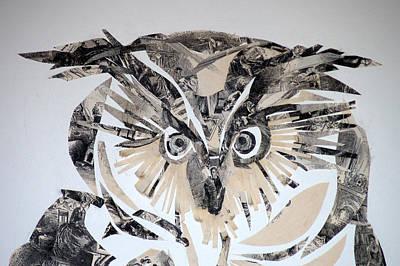 Uil Mixed Media - owl by Jolly Van der Velden