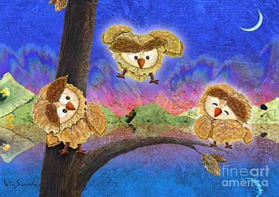 Outdoors Painting - Owl Leaf Lake by Vin Kitayama