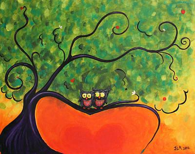 Owl Love You Print by Jennifer Alvarez