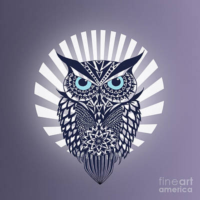 Owl Digital Art - Owl by Mark Ashkenazi
