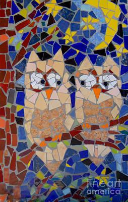 Painting - Owl Mosaic by Lou Ann Bagnall