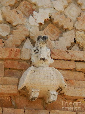Photograph - Owl Of The Nunnery At Uxmal Pyramid Yucatan Mexico by Michael Hoard