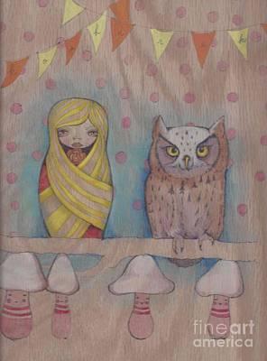 Owl Party Art Print