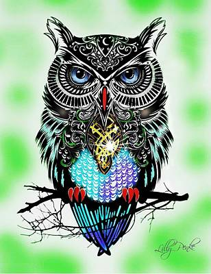 Owl Prosperity Art Print by Lilly Penke