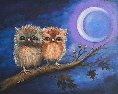 Painting - Owl Be There For You by Agata Lindquist
