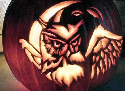 Mixed Media - Owl Pumpkin by Scarlett Royal