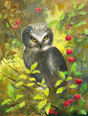 Ray Cole Painting - Owl by Ray Cole
