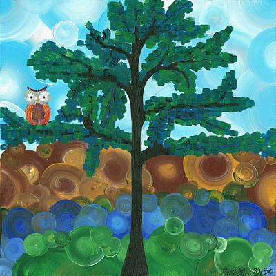 Painting - Owl Singles - 03 by MiMi  Stirn