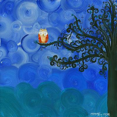 Painting - Owl Singles - 01  by MiMi  Stirn
