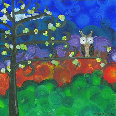 Painting - Owl Singles - 04 by MiMi  Stirn