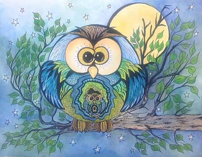 Painting - Owl Take Care Of You by Meldra Driscoll