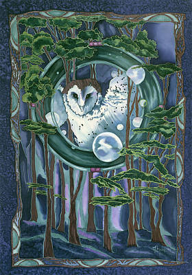 Painting - Owl Totem by Artimis Alcyone
