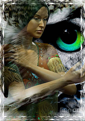 Owl Woman Art Print by Shadowlea Is