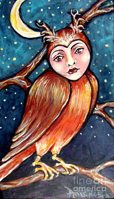 Painting - Owlie by Patience A