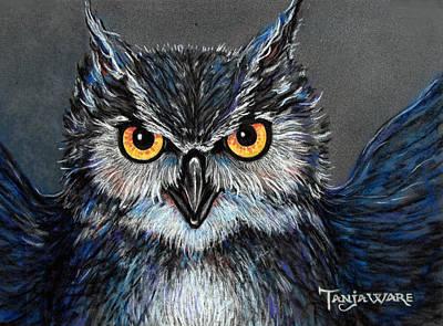 Owlish Art Print by Tanja Ware