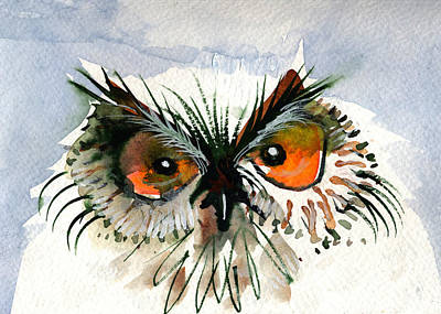 Painting - Owlitude by Laurel Bahe