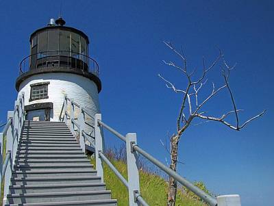 Photograph - Owls Head Light by Gene Cyr