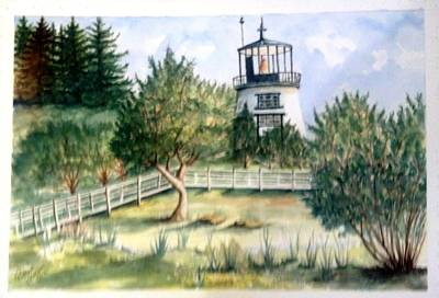 Owls Head Maine Lighthouse Art Print
