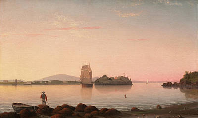 Fitz Painting - Owls Head Penobscot Bay Maine by Fitz Henry Lane