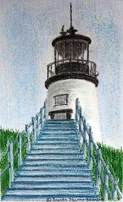 Painting - Owls Head Up To The Light by Brenda Stevens Fanning