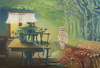 Owl's Insomnia Original by Wojciech Pater