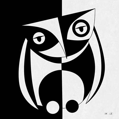 Owl Digital Art - Own Abstract  by Mark Ashkenazi