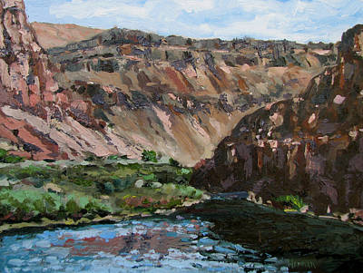 Painting - Owyhee River  by Les Herman