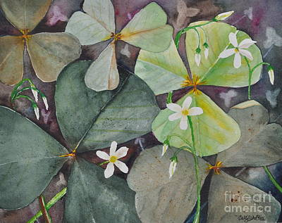 Patrick Painting - Oxalis Acetosella by Sally Rice