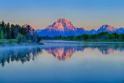 Photograph - Oxbow Alpenglow by Greg Norrell