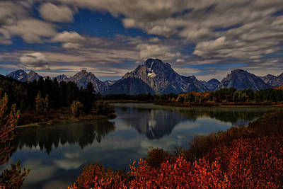 Oxbow Bend At Night Print by Greg Norrell