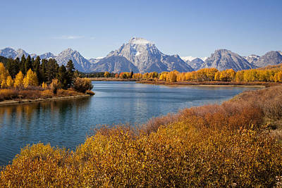 Photograph - Oxbow Bend Autumn by Jack Bell