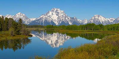 Photograph - Oxbow Bend Mt. Moran by Aaron Spong