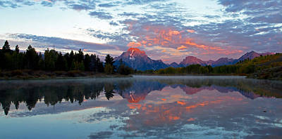 Photograph - Oxbow Bend Reflection by Shari Sommerfeld