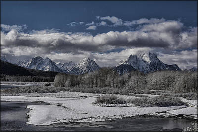 Photograph - Oxbow Bend Snowfall by Erika Fawcett