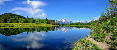 Photograph - Oxbow Bend Spring Panorama by Greg Norrell